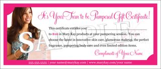 Pixel perfect mary kay gift certificate yadclub Choice Image