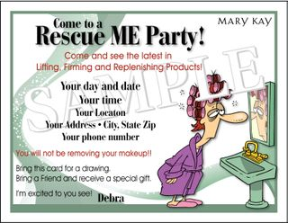 Pixel perfect mary kay rescue me party postcard rescue me party pc stopboris Choice Image