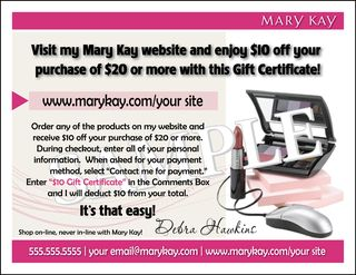 Pixel perfect mary kay website gift certificate option 2 yadclub Choice Image